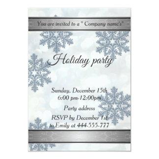 Trendy Schneeflocke bokeh Firmenfeiertags-Party Karte