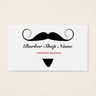 Trendy Schnurrbart-Friseur-Geschäfts-Haar-Stylist Visitenkarte
