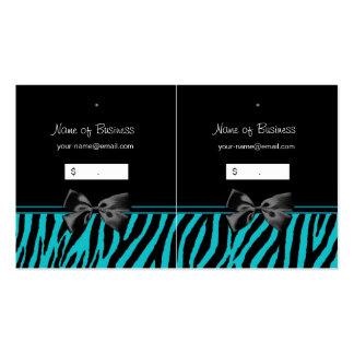 Trendy schwarze und aquamarine visitenkarten