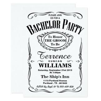 Trendy schwarzes u. weißes 12,7 x 17,8 cm einladungskarte