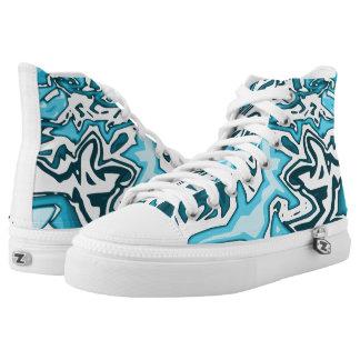 #Trendy Sneakers Unisex Blau/Weiß/Abstrakt