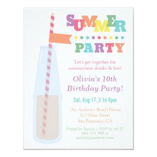 Trendy Soda-Sommer-Geburtstags-Party Einladungen