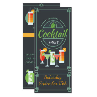 Trendy Tafel-Cocktail-Party Einladung