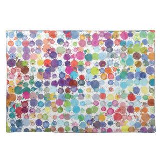Trendy Tischset-Kunstfarbenregenbogen Tischset