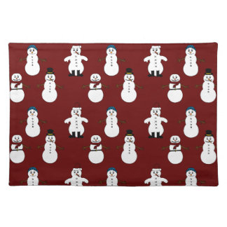 Trendy Tischset rotes Snowman Weihnachten