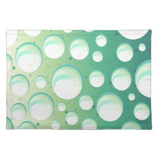 Trendy Tischsetminzenaqua-Grünblasen Tischset
