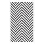 Trendy u. angesagtes schwarzes/weißes Zickzack Visitenkartenvorlage