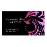 Trendy und mutige Haar-Stylist-Geschäfts-Karte Visitenkarten