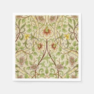 Trendy Vintage Dekorateur-Blumentapeten-Narzisse Papierserviette