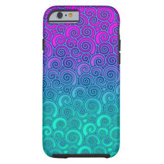 Trendy Wirbles gewelltes aquamarines und helles Tough iPhone 6 Hülle