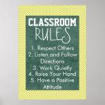 Trendy Zickzack Klassenzimmer ordnet Plakat an