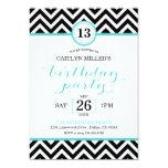 Trendy Zickzack-Zickzack Geburtstags-Party Ankündigungskarten