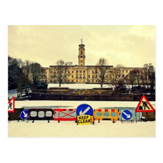 Trent Gebäude, Universität von Nottingham, Winter Postkarte