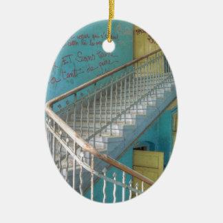 Treppe 01,0, verlorene Plätze, Beelitz Keramik Ornament
