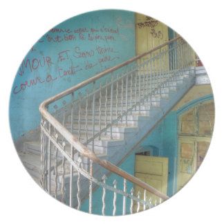 Treppe 01,0, verlorene Plätze, Beelitz Melaminteller
