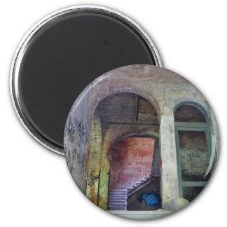 Treppe 02,0 ruiniert, verlor Plätze, Beelitz Runder Magnet 5,1 Cm