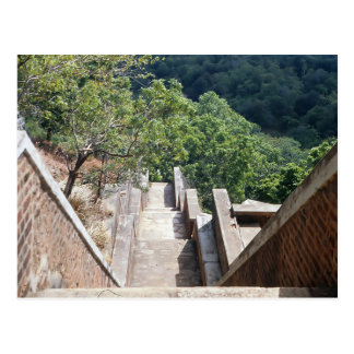 Treppe in Sigiriya/in Sri Lanka Postkarte