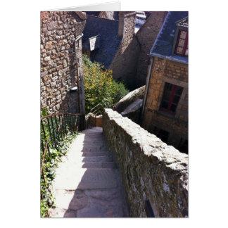 Treppe Mont St. Michel Karte