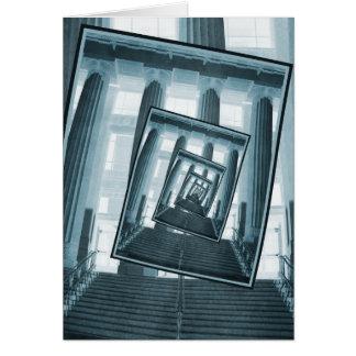 Treppe und Säulen Karte