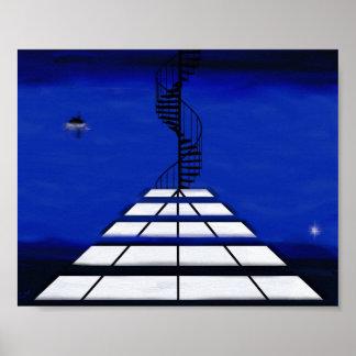 Treppe zu wo plakat