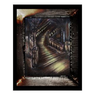 Treppenhaus des Lichtes Poster