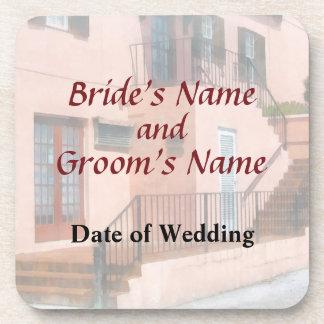 Treppenhaus in den Bermuda-Hochzeits-Produkten Getränkeuntersetzer