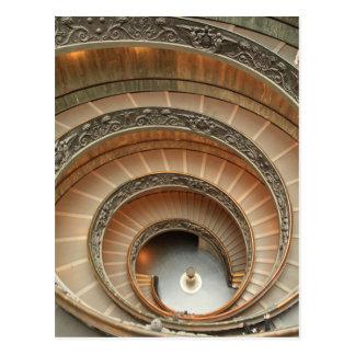 Treppenhaus in Vatikan-Museum Postkarte