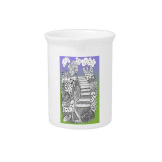 Treppenhaus zum Himmelsrahmtopfkrug Getränke Pitcher