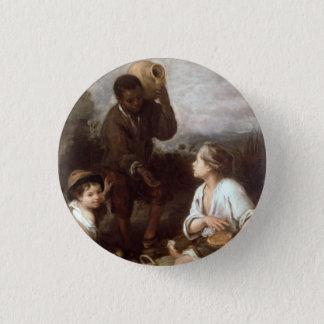 Tres niños runder button 3,2 cm