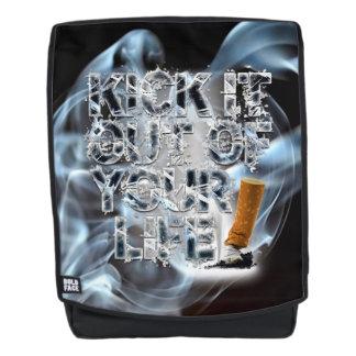 Treten Sie es aus Ihrem Leben heraus! Rucksack