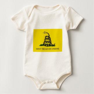 Treten Sie nicht auf Gewerkschaften Baby Strampler