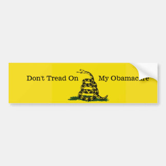 Treten Sie nicht auf meinem Obamacare Autoaufkleber