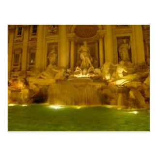 Trevi-Brunnen-Abend Postkarte