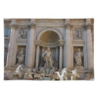 Trevi Brunnen in Rom - Italien Stofftischset