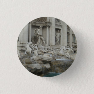Trevi-Brunnen in Rom Runder Button 3,2 Cm