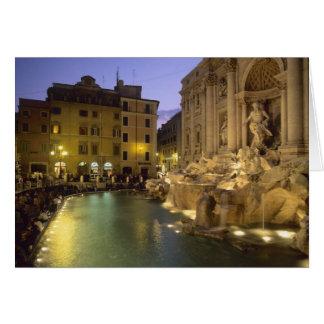 Trevi-Brunnen nachts, Rom, Lazio, Italien Karte