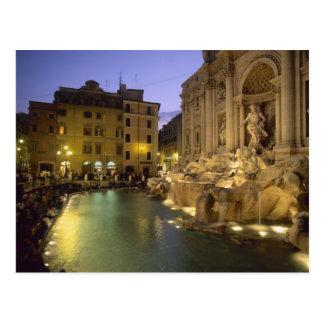 Trevi-Brunnen nachts, Rom, Lazio, Italien Postkarte