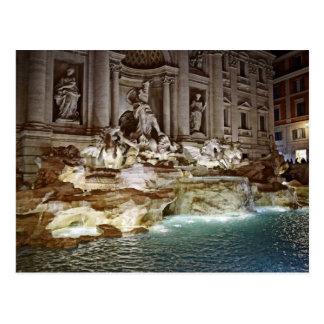 Trevi-Brunnen - Postkarte Roms, Italien