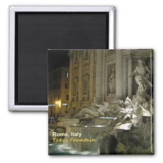 Trevi-Brunnen-Reise-Foto-Magnet Rom-Italien Quadratischer Magnet