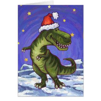 TRex Dinosaurier-Feiertags-Karte Karte