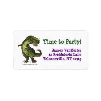 TRex Dinosaurier, Zeit zu den Adressaufkleber