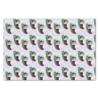 Tri FarbeCorgi im Strumpf-Seidenpapier Seidenpapier