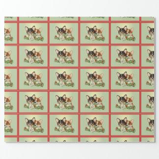 Tri Farbecorgi-WeihnachtsPackpapier Geschenkpapier