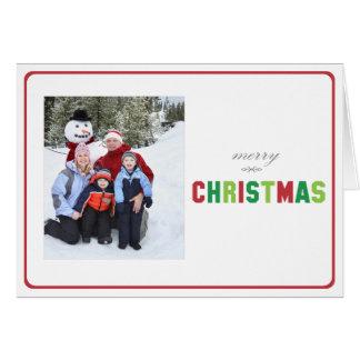 Tri Farbige gefaltete Weihnachtskarte Karte