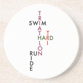 Tri hartes des Triathlon Getränkeuntersetzer
