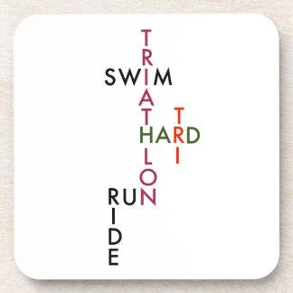 Tri hartes des Triathlon Untersetzer