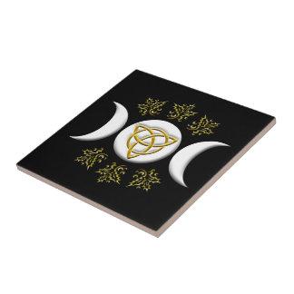 Tri Mond u. Tri-Quatra, mit Stechpalme - Keramikfliese