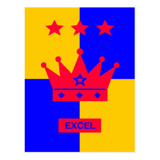 Tri Stella-Stärke - Excel Postkarte
