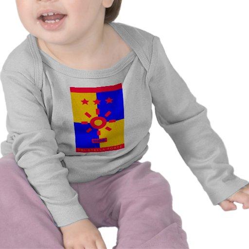 Tri Stella-Stärke - Glanz T Shirts