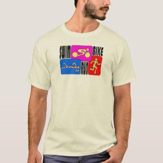 TRI Triathlon-Schwimmen-Fahrrad HELLER T-Shirt